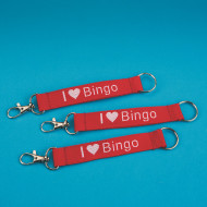 """I Love Bingo"" Lanyard Key Chains (pack of 12)"
