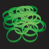 Glow-in-the-Dark Silicone Bracelets (pack of 24)