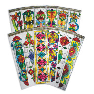 Vertical Stained Glass Window Clings (pack of 12)