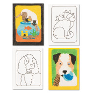 "Sand Art Boards 5""x7"" - Dogs & Cats  (pack of 12)"