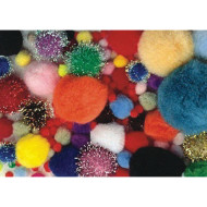 Pom Poms - Assorted Sizes and Colors (pack of 300)