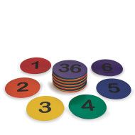 "Spectrum™ 5"" Numbered Spot Markers (set of 36)"