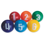"4"" Spectrum™ Numbered Vinyl Balls (set of 6)"