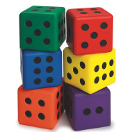 "Large 3"" Foam Dice (set of 6)"
