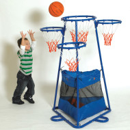 Four-Ring Basketball Steel Goal