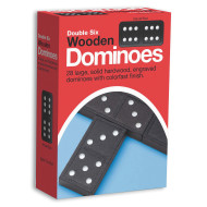 Double-Six Wooden Dominoes  (set of 28)