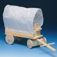 Unfinished Covered Wagon, Unassembled