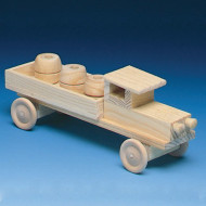 Unfinished Wood Pickup Truck Kit, Unassembled