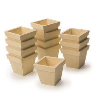 Preassembled Wood Planters (pack of 12)