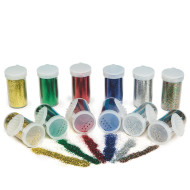 Color Splash!® Glitter Bulk Pack, Basic Colors (pack of 12)