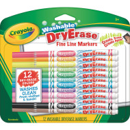 Crayola® Washable Dry Erase Fine Line Markers (set of 12)