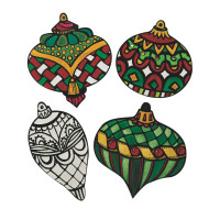 Velvet Art Ornaments (pack of 24)