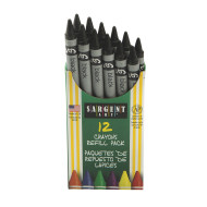 Sargent Black Crayons (pack of 12)