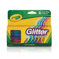 Crayola® Glitter Specialty Markers (pack of 6)