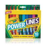 Crayola® Powerlines Washable Scented Markers (set of 10)