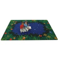Peaceful Tropical Night Play Carpet
