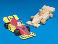 Mini Unfinished Wood Race Cars (pack of 12)