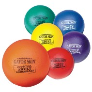 Gator Skin® Official Adult Dodgeball 6-Color Set (set of 6)