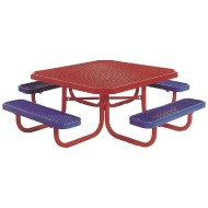 Kids Coated Steel Square Picnic Table