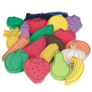 Flat Foam Foods, Fruit and Veggies (set of 18)