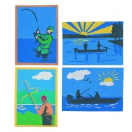 "Sand Art Boards 5""x7"" - Gone Fish"