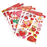 Valentine Static Clings  (pack of 6)