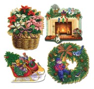 Christmas Cutouts  (pack of 4)