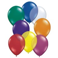 "11"" Qualatex® Balloons, Jewel Tone Assortment (bag of 100)"