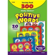 Positive Words Stinky Stickers® (pack of 300)