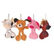 Plush Mini Floppy Leg Farm Animals (pack of 12)