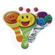 Smiley Paddle Ball Game (pack of 12)