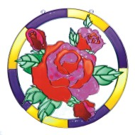 "Open Back Sun Catcher  11"" - Rose"