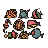 Tropical Fish Stained Glass Frames (pack of 24)