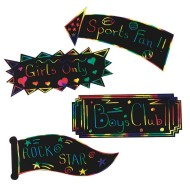 Scratch-Art® Signs  (pack of 12)
