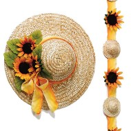 "14"" Straw Hats (pack of 6)"