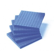 Base Ten Blue Flats, Pack of 10