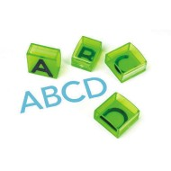 "Jumbo 1"" Uppercase Alphabet Transparent Stamps"