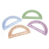 "6"" Protractor, 4 Colors (set of 24)"