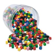 10-Color Centimeter Cubes (set of 1000)