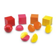 Magnetic 3-D Fraction Shapes (set of 20)