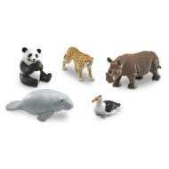 Jumbo Endangered Animals (set of 5)