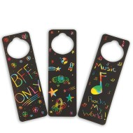 Scratch Door Hangers Craft Kit (makes 48)