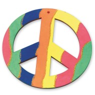 Wood Peace Sign Craft Kit (makes 12)