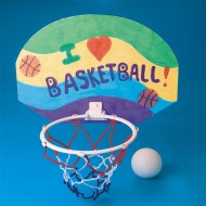 Color-Me™ Basketball Hoop Craft Kit Without Markers (pack of 12)