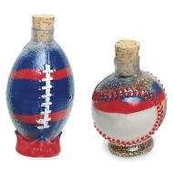 Baseball and Football Sand Art Bottle Assortment (pack of 6)