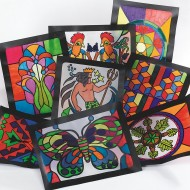 Stained Glass Windows  (pack of 16)