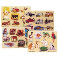Melissa & Doug® Easy Grip Pegged Puzzles  (set of 4)