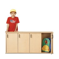 Young Time™ 4-Section Stackable Locker with Doors