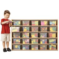 Young Time™ 25 Tray Cubbie Storage -w/ clear trays