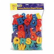 Letters, Numbers and Shapes Sponges (set of 60)